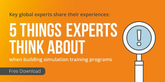 Mentice paper 5 things experts think about when building simulation training programs