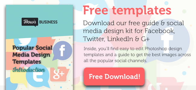 Download our free social media design templates kit and make your business look the business on social media