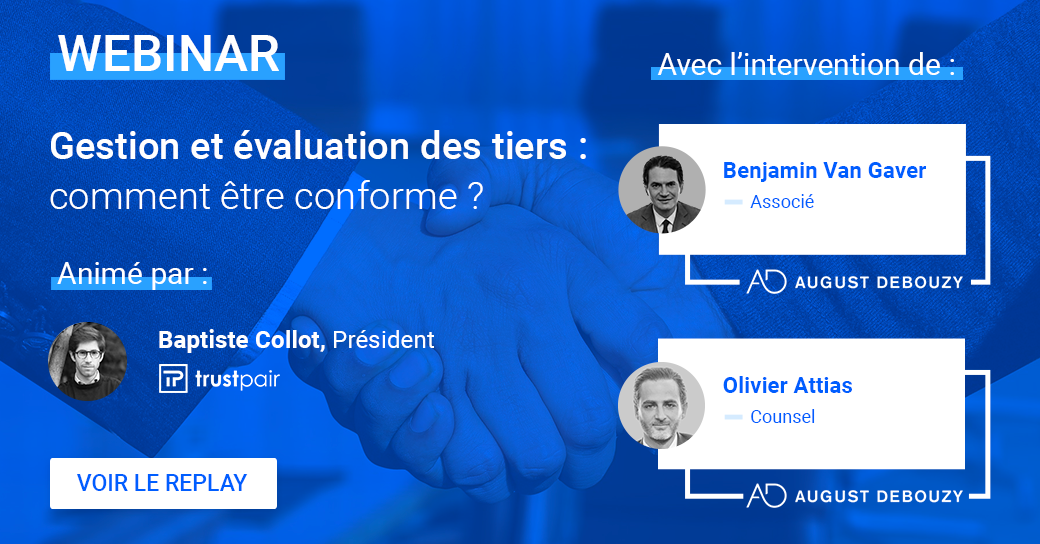Inscription Webinar August Debouzy x Trustpair - Conformité, Loi Sapin II et Devoir de vigilance