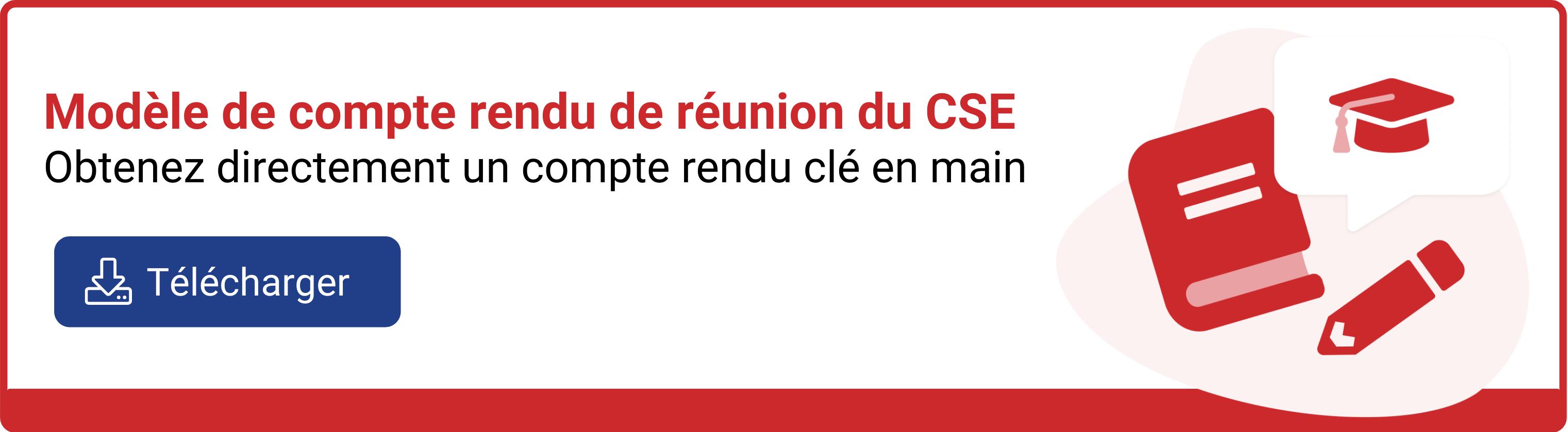Compte rendu de réunion du CSE
