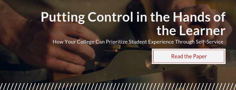 Download a paper on how community colleges can deliver better experience through student self-service