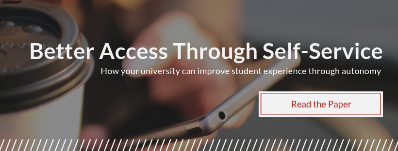 Download a paper on how universities can deliver better experience through student self-service