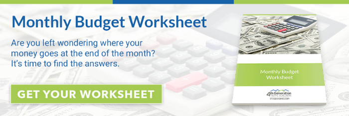 Click here to download the Monthly Budget Worksheet now