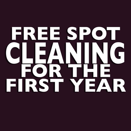 Free Spot Cleaning for the First Year