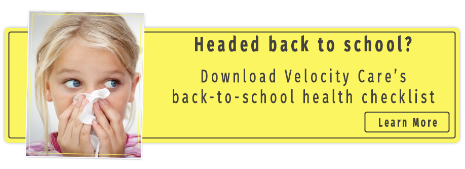 Back-to-school health checklist from Velocity Care