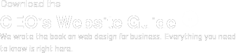 Download the CEO's Website Guide <>  We wrote the book on web design for business. Everything you need to know is  right here.
