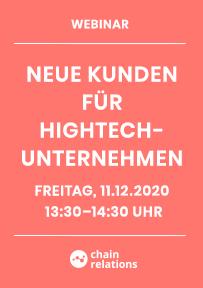 Webinar Neue Kunden für HighTech-Unternehmen