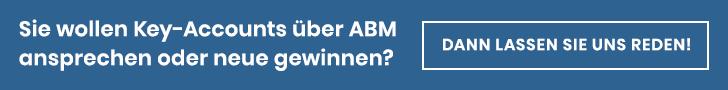 Anmeldung Bereit für Account-based Marketing (ABM)