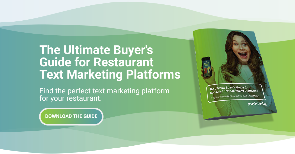 Get the Ultimate Buyer's Guide for Restaurant Text Marketing Platforms