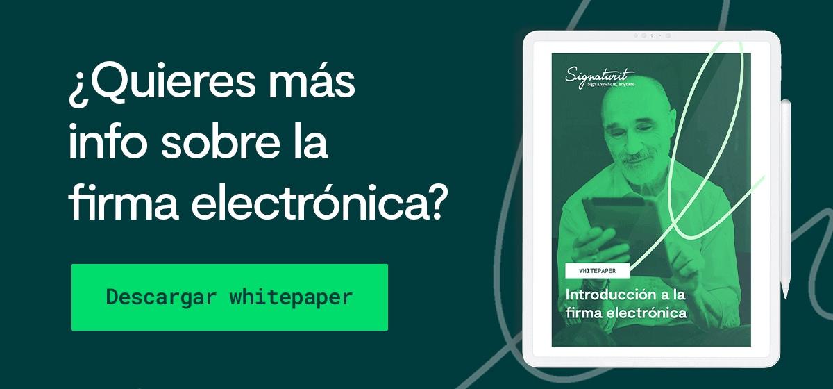 Whitepaper La firma electrónica para el sector INMOBILIARIO