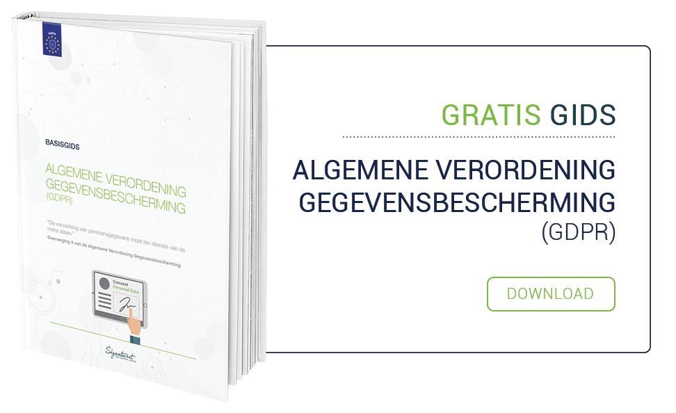 Basisgids Algemene Verordening Gegevensbescherming (GDPR)