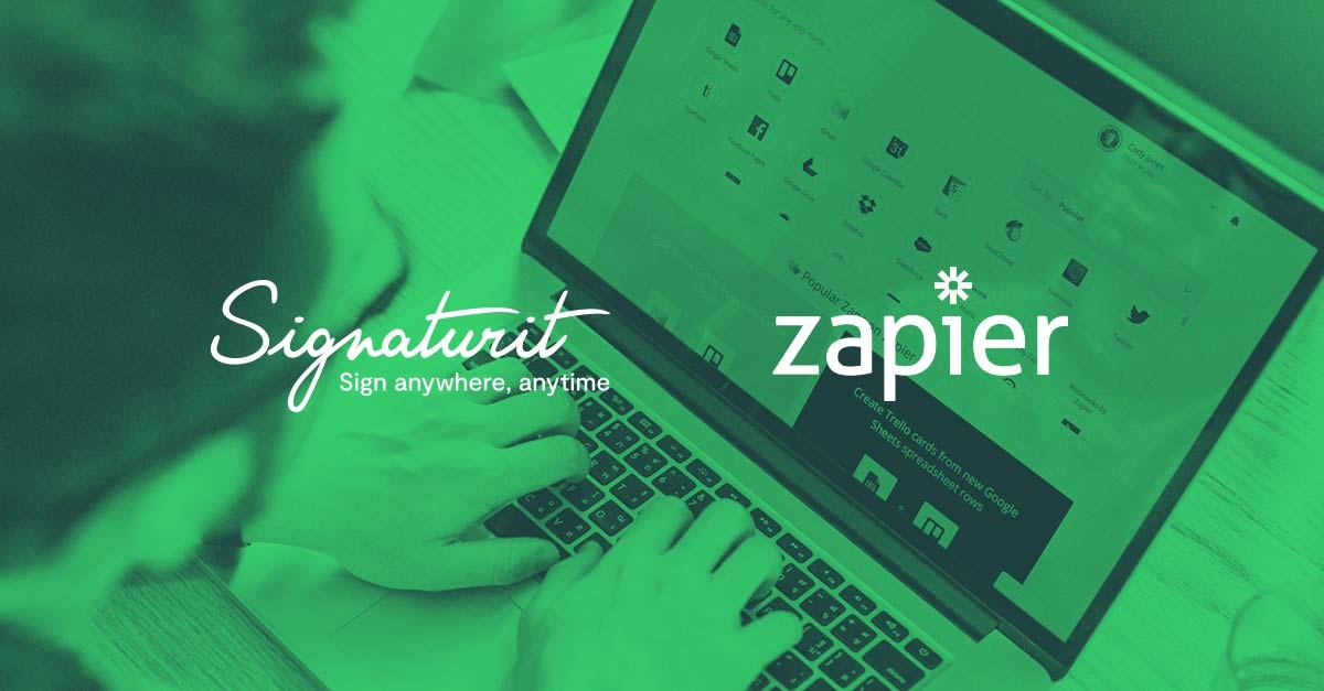 Integración Signaturit Zapier