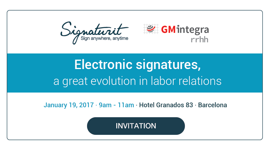 Event: Electronic signatures,  a great evolution in labor relations