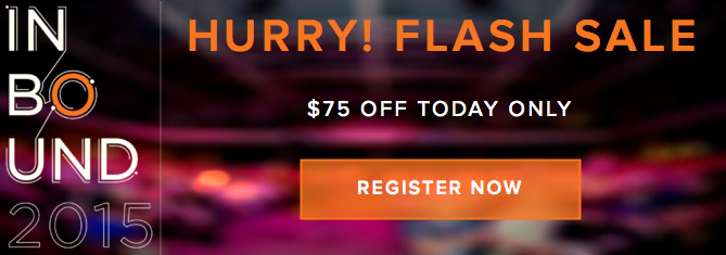 INBOUND 2015 flash sale: $75 off today only