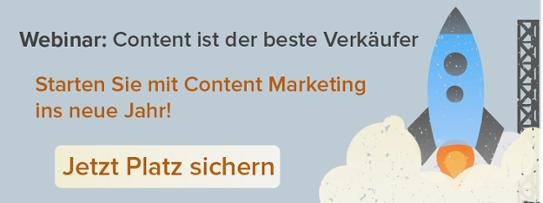 Webinar: Content ist der beste Verkäufer