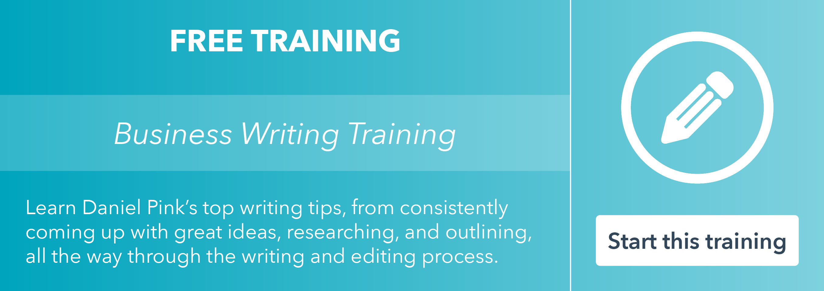 Take the free business writing training by HubSpot Academy!