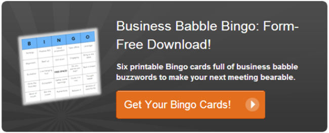 business babble bingo