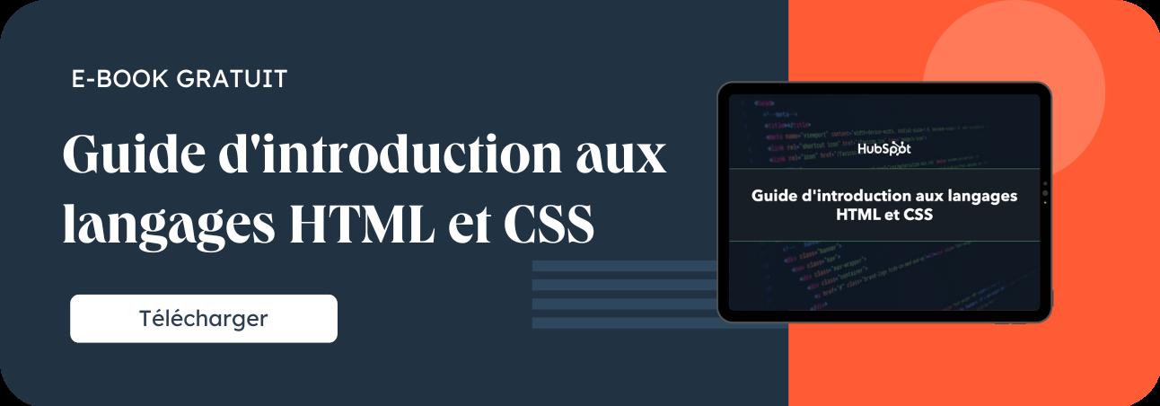 Guide d'introduction aux langages HTML et CSS
