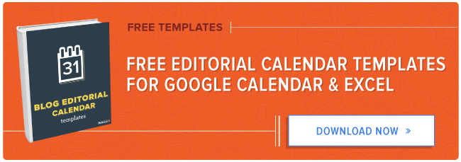 get free blog editorial calendar templates