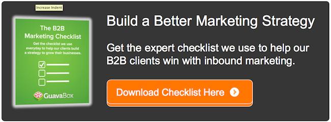 inbound marketing checklist b2b