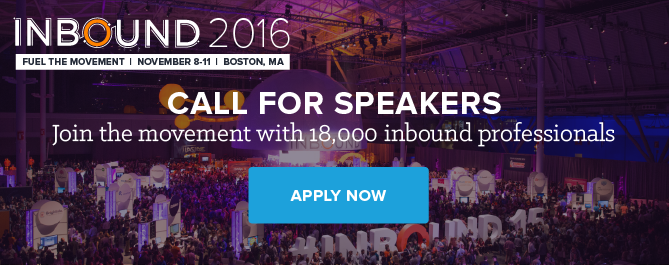 apply to speak at INBOUND 2016