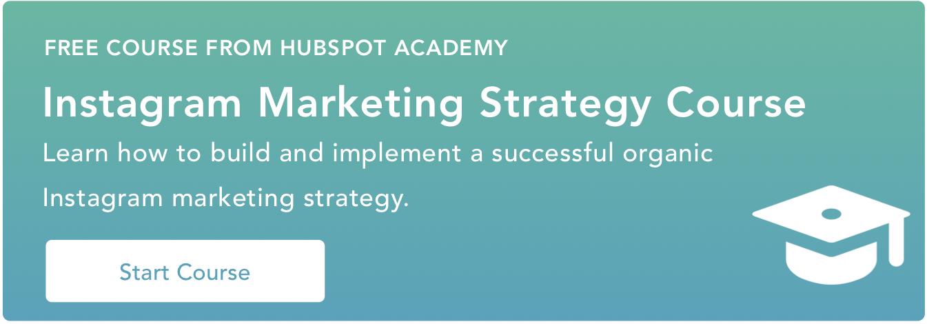 hubspot academy instagram marketing strategy course