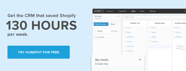 HubSpot CRM Save 130 Hours