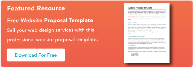 website proposal template
