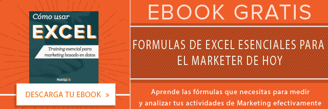 Fórmulas de Excel para medir Marketing