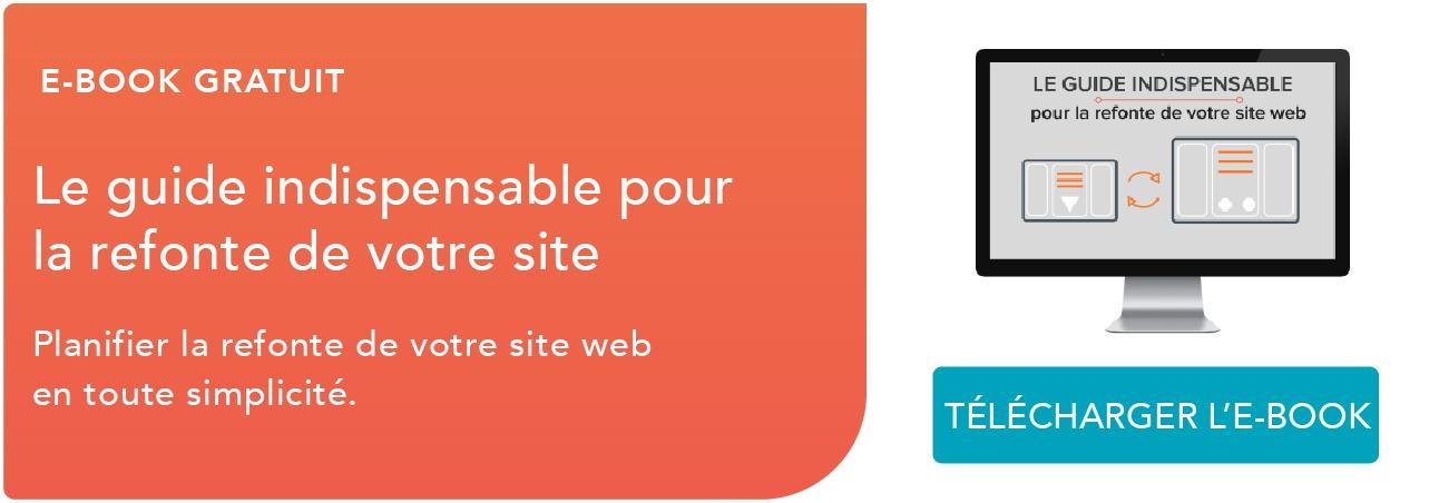 CTA e-book refonte site web
