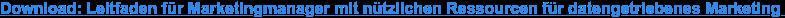 Download: Leitfaden für Marketingmanager mit nützlichen Ressourcen für  datengetriebenes Marketing
