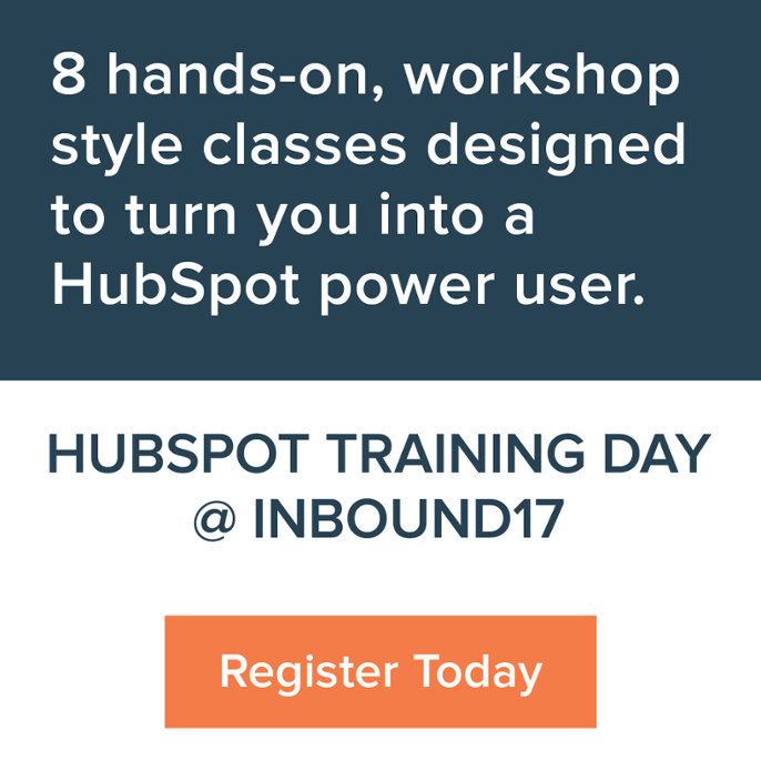 HubSpot Training Day @ INBOUND 2017