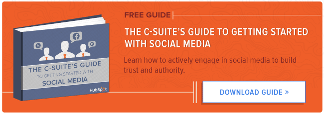 free c-suite guide to social media