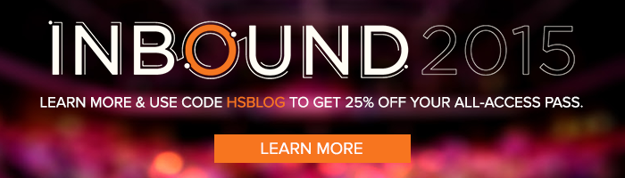 register for INBOUND 2015 and get 25% off