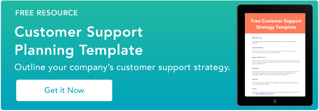 customer support plan