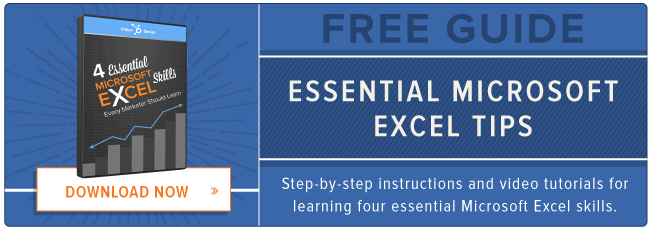free guide: microsoft excel tips