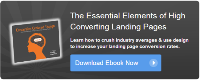 conversion centered landing page design