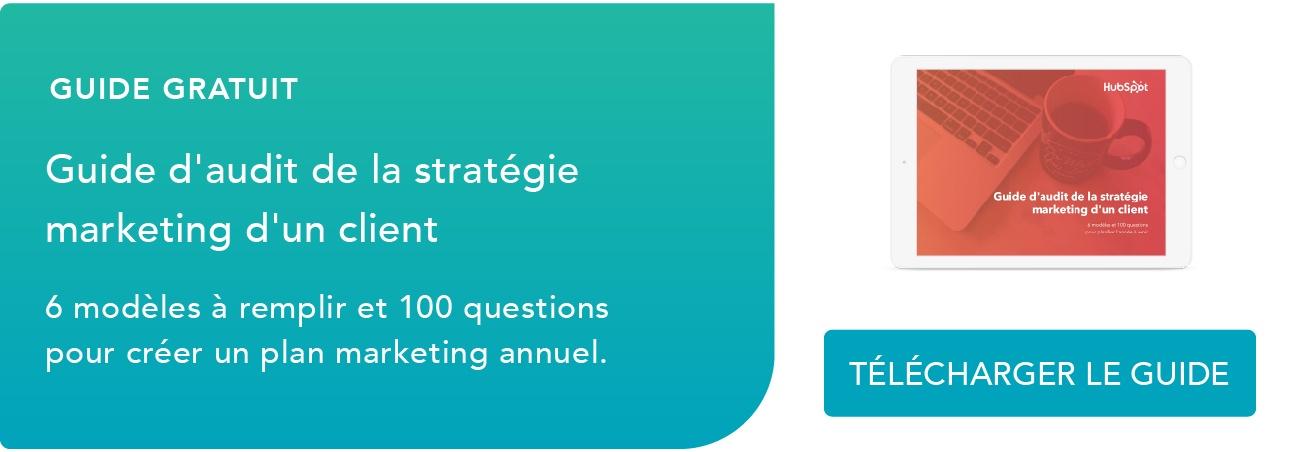 Télécharger le guide d'audit de la stratégie marketing d'un client