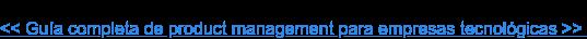 << Guía completa de product management para empresas tecnológicas >>
