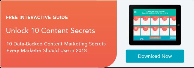 解鎖10個數據支持的內容營銷秘訣,以便在2018年使用