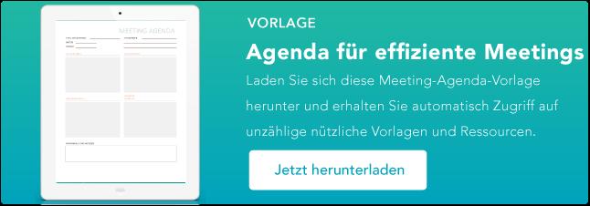 Meeting Agenda Vorlage