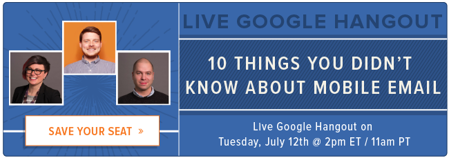 join a Google Hangout with email experts
