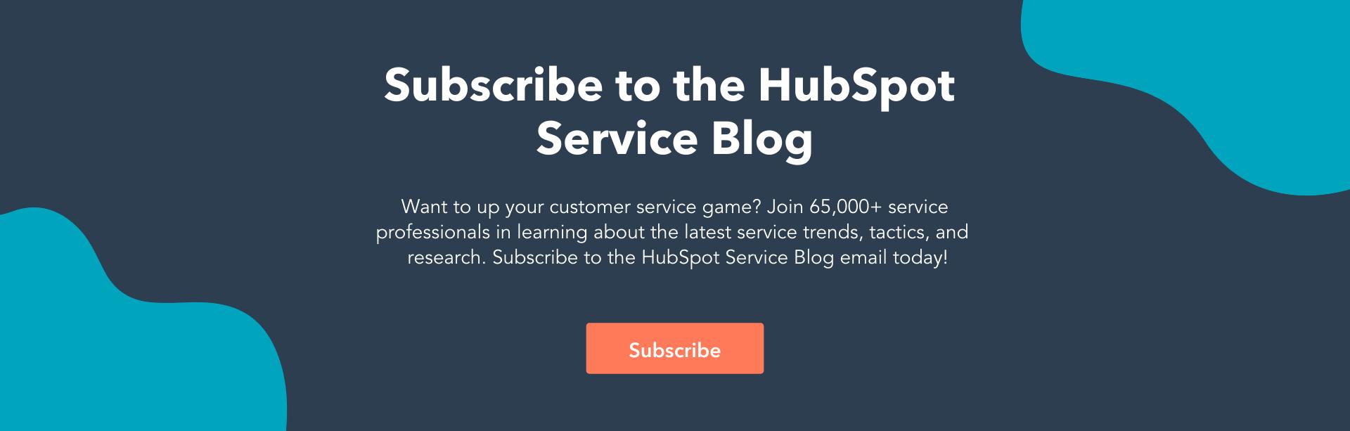 hubspot service blog