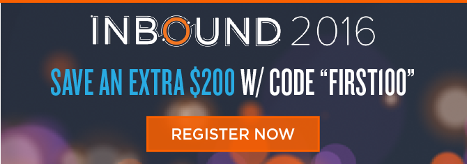 Save $200 on INBOUND 2016 Registration
