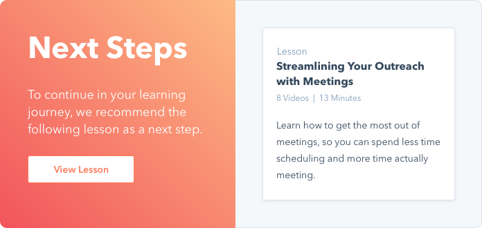 Streamlining Your Outreach with Meetings