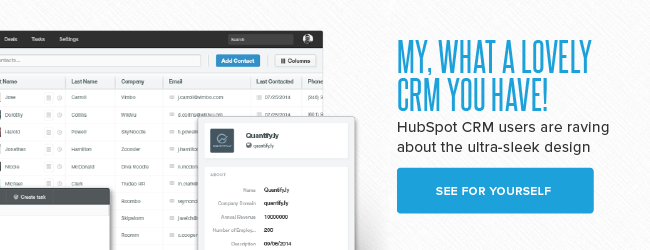 HubSpot CRM sleek