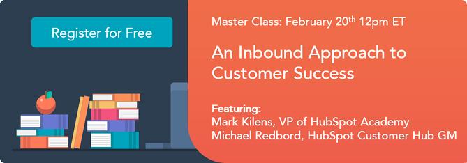 Free Online Master Class: An Inbound Approach to Customer Success