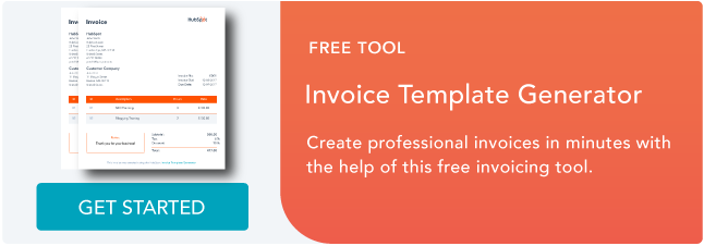 invoicing template