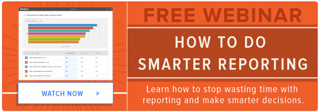 free marketing reporting webinar