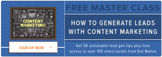 free master class: how to generate leads with content marketing